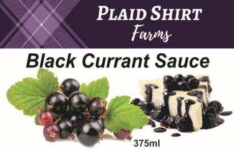 Label_black currant sauce 375ml Panel
